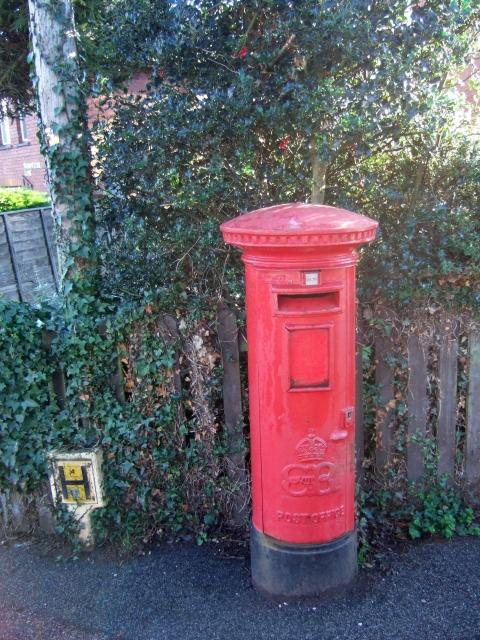 Edward VIII pillar box, Peryam Crescent, Exeter