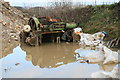 SK1864 : Long Rake Spar Mine - abandoned steam winch by Chris Allen