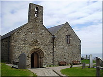 SH1726 : St Hywyn's Church, Aberdaron by Eirian Evans