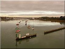 SZ3394 : Lymington: harbour entrance by Chris Downer