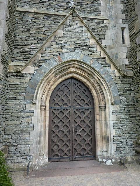 St Oswald's Church, Burneside, Doorway