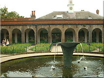 TQ2479 : Mural & fountain in Holland Park by Phillip Perry