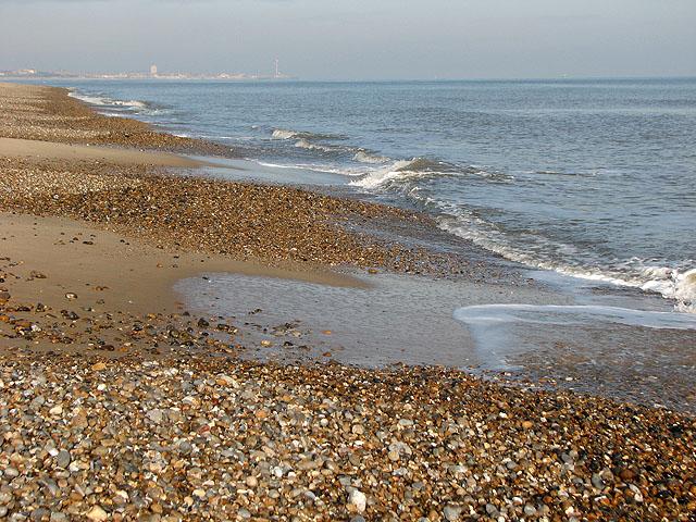 Sand and shingle on Kessingland beach