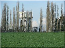 SX9896 : Water tower near Broadclyst by Sarah Charlesworth