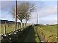 SN7268 : Public footpath heading north along Bryn Capel by Nigel Brown
