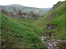SK1482 : Cave Dale and Peveril Castle by Graham Hogg