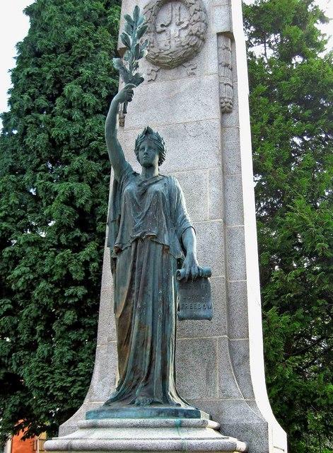 War Memorial outside Victoria Park (2) - statue, High Street