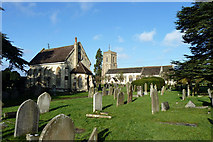 TQ2550 : Reigate cemetery chapel and St Mary's church by Robin Webster