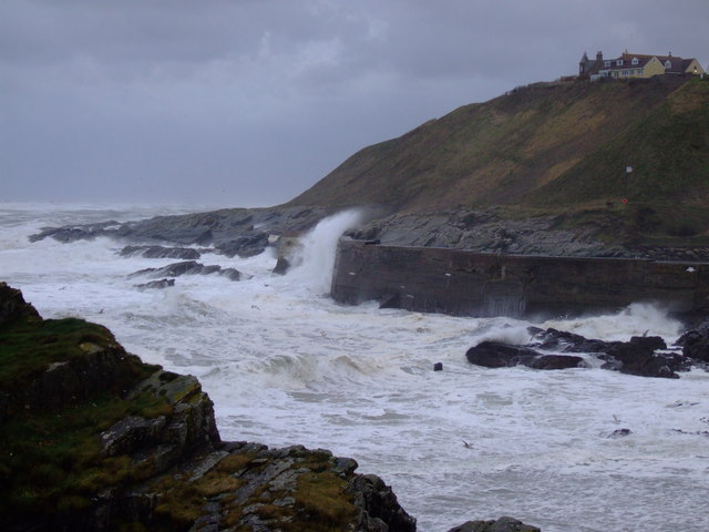 Wintery Seas at Collieston