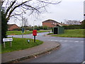 TM4077 : Lodge  Road & Orchard Valley Postbox by Adrian Cable