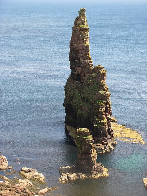 Witches Hat Stack © Richard Webb :: Geograph Britain and Ireland