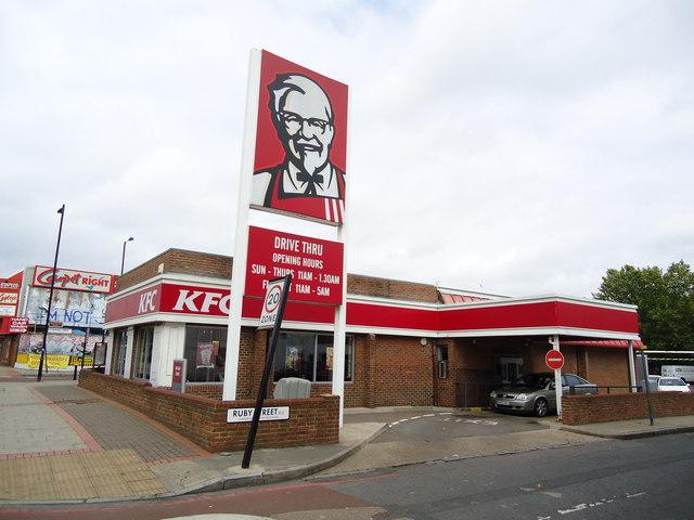 KFC drive-thru restaurant, Old Kent Road © Stacey Harris ...