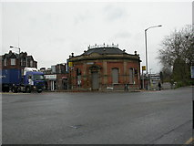 SJ8196 : Old Trafford Station by Mike Faherty