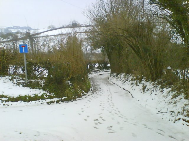 Mill lane in the Snow
