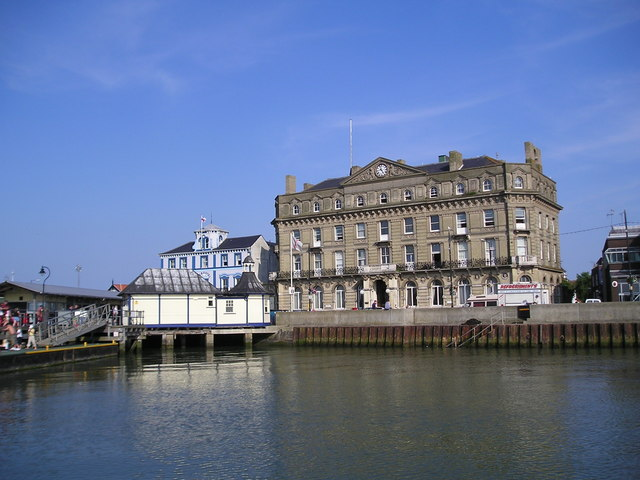 The old quay at Harwich from Ha'penny Pier