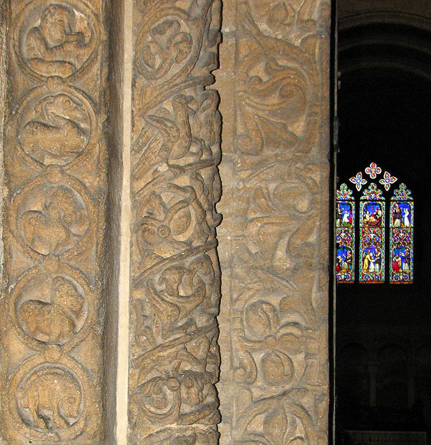 Ely Cathedral - the Prior's door (detail)