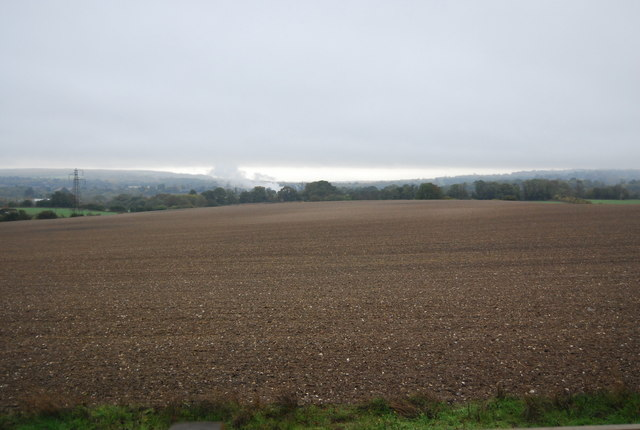 Large fallow field south of the Pilgrims' Way