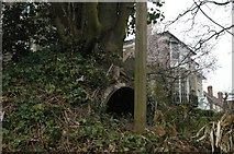 TQ3370 : Anderson shelter, in garden off Fox Hill by Christopher Hilton