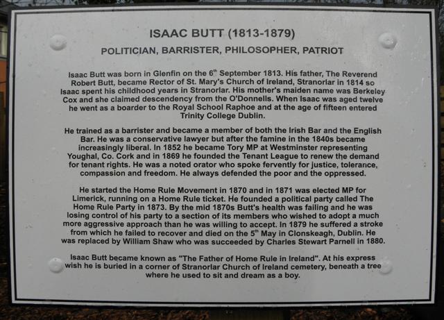 Plaque, Isaac Butt