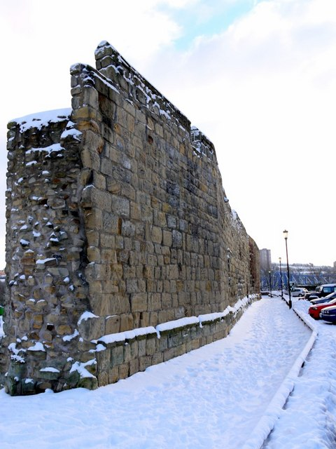 Remains of Newcastle Town Wall, off Orchard Street