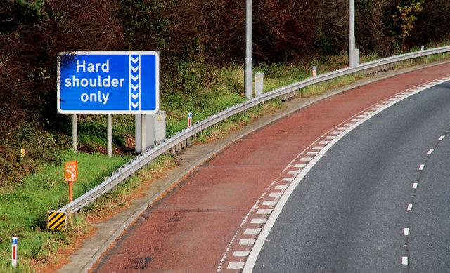 Tire Places Open On Sunday >> Motorway bus lane sign, Dunmurry © Albert Bridge :: Geograph Ireland