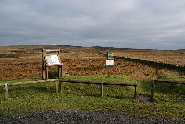 Access land notices on Waddington Fell