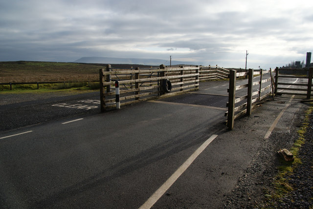 Cattle grid on the B6478