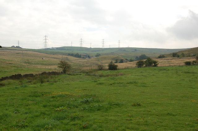 View west towards Shepherd Clough