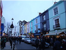 TQ2580 : Coloured buildings on Portobello Road #3 by Robert Lamb