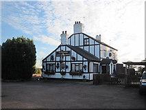 SJ3338 : Greyhound Inn Street Dinas by John Firth