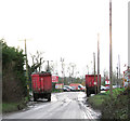 TL6599 : Entrance to the recycling plant at the end of Station Road, West Dereham by Evelyn Simak