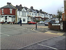 TQ4077 : Junction of Wyndcliff Road and Bramshot Avenue by Roger Templeman