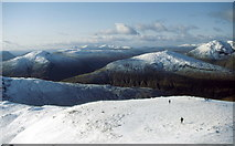 NN3835 : On Creag Mhòr's south west ridge by Russel Wills