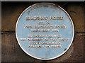 SJ8662 : Plaque on Bradshaw House by Jonathan Kington