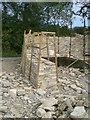 SY9881 : Building a dry stone wall, Dorset, 2009 (1) by Stefan Czapski