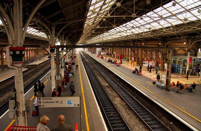 Platforms 4,5 and 6 at Preston Station