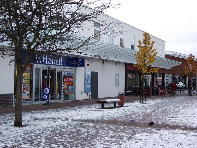 A light dusting of snow in Talisman Square