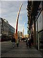J3374 : Sculptures, Donegal Square, Belfast by Kenneth  Allen
