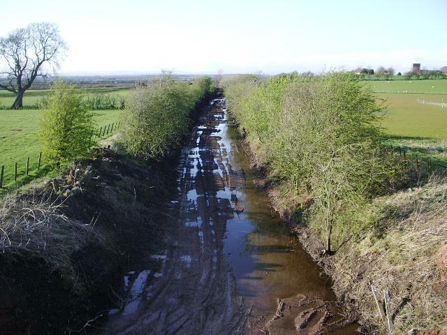 Dismantled railway near Arthuret House