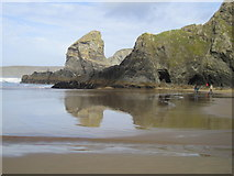 SW8469 : Bedruthan Steps by Chris Andrews