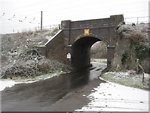 TL1217 : East Hyde: Thrales End Lane railway bridge by Nigel Cox