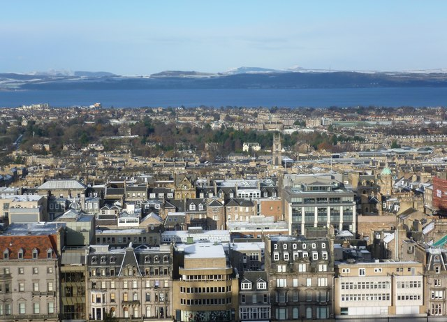 View of the New Town and Fife from Edinburgh Castle