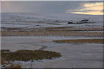 HP6312 : The Haroldswick pool in the snow by Mike Pennington