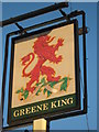 TQ4069 : Red Lion  Pub Sign, Bromley  by David Anstiss