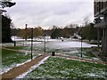 SP0584 : View towards the lake, the Vale student village by David P Howard
