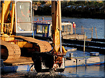 J3472 : Dredging the River Lagan, Belfast -  2010/11 (76) by Albert Bridge