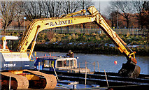 J3472 : Dredging the River Lagan, Belfast -  2010/11 (77) by Albert Bridge