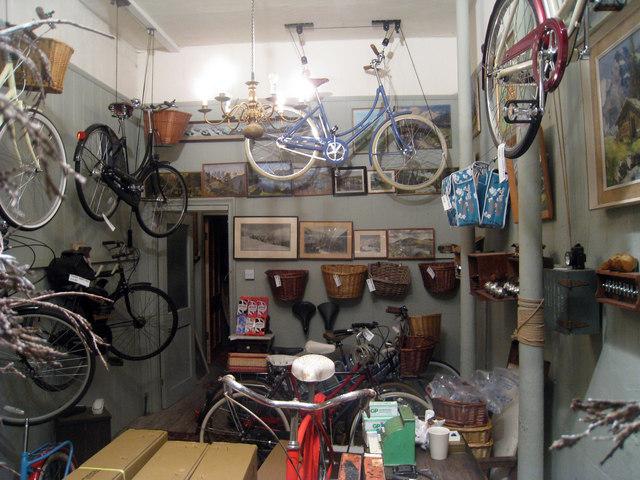 Old fashioned bike shop