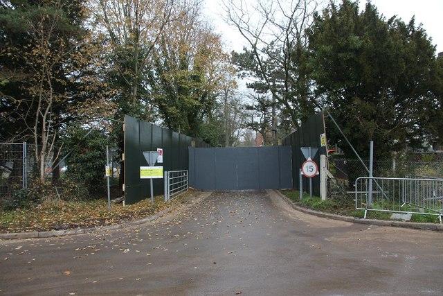 Gates across the entrance