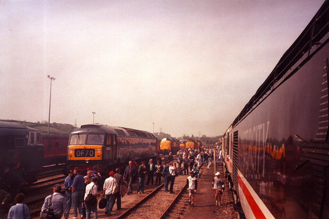 Sidings at Exeter Railway Station